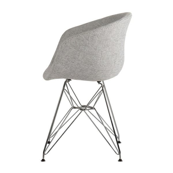 Remarkable Shop Danish Modern Upholstered Side Chair With Metal Eiffel Machost Co Dining Chair Design Ideas Machostcouk