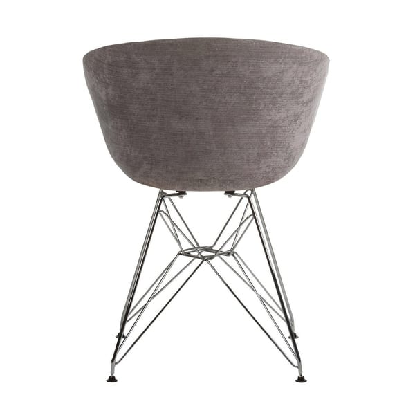 Outstanding Shop Danish Modern Upholstered Side Chair With Metal Eiffel Machost Co Dining Chair Design Ideas Machostcouk