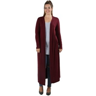 JED Women's Plus Size Maxi Knit Cardigan