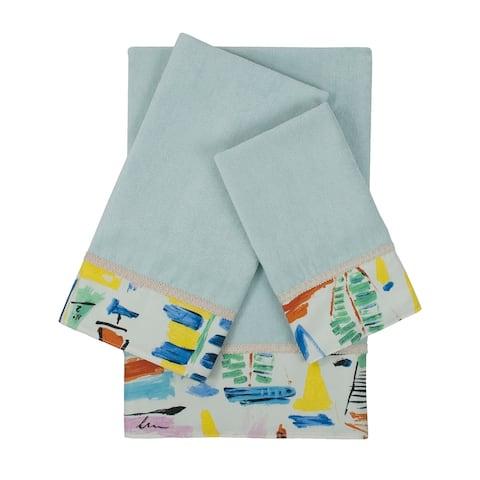 Sherry Kline Sailboat Light Blue 3-piece Embellished Towel Set - 13 x 18 x 0.5/16 x 25 x 0.5/25 x 48 x 0.5