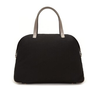 Alchemy Accessories Midnight Black Eco-Canvas Color Block Travel Fashion Duffle Bag