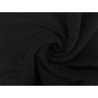 Solid Black 4 piece 100% Cotton Bath Towel