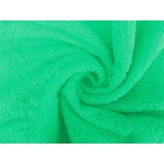 Solid GREEN 6 piece 100% Cotton Hand Towel