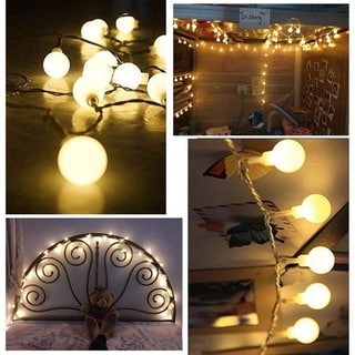 100 Led Globe String Lights, Ball Christmas Lights for Patio Garden Party Xmas Tree Wedding Decoration