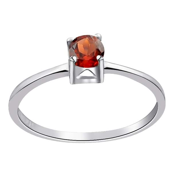 2f574ca2c04b4 Shop 925 Sterling Silver 0.30 Ct. Garnet Solitaire Ring by Orchid ...