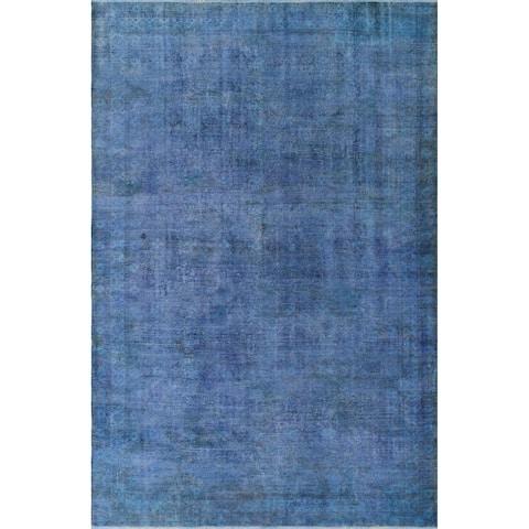 "Noori Rug Distressed Overdyed Ryann Blue/Brown Rug - 7'5"" x 11'7"""