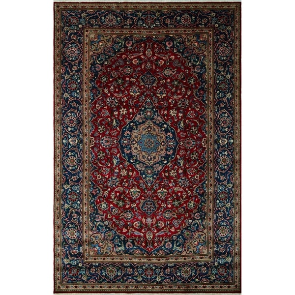 "Noori Rug Vintage Distressed Avalynn Red/Blue Rug - 6' x 10'/6'3"" x 10'8"""