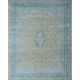 """Noori Rug Fine Vintage Distressed Caylee Beige/Blue Rug - 10' x 12'/9'10"""" x 11'5"""""""