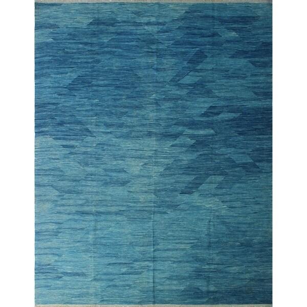 """Noori Rug Winchester Kilim Dalia Blue Rug - 9'4"""" x 12'1"""""""