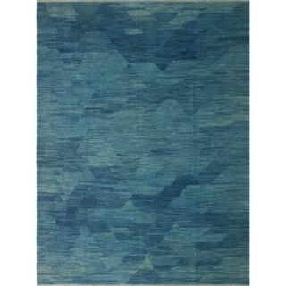 """Noori Rug Winchester Kilim Azucena Blue Rug - 9'4"""" x 11'10"""""""