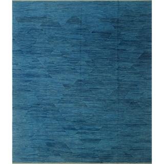 """Noori Rug Winchester Kilim Amad Blue Rug - 8'6"""" x 9'10"""""""