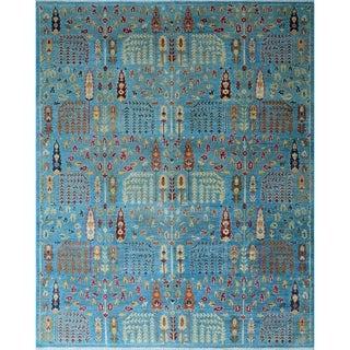 Noori Rug Aria Fine Chobi Adiba Blue/Ivory Rug - 8'1 x 9'11