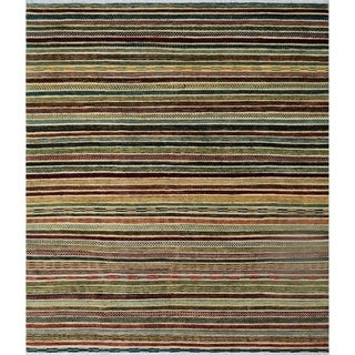 "Noori Rug High-Low Aurelia Rust/Blue Rug - 7'10"" x 9'3"""