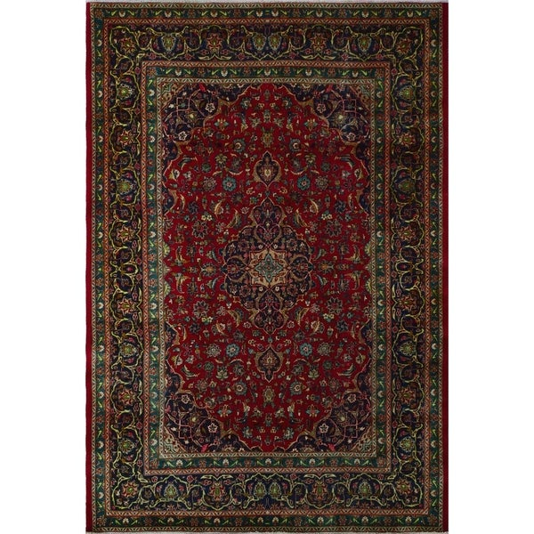 "Noori Rug Vintage Distressed Angelique Red/Blue Rug - 6'8"" x 10'0"""