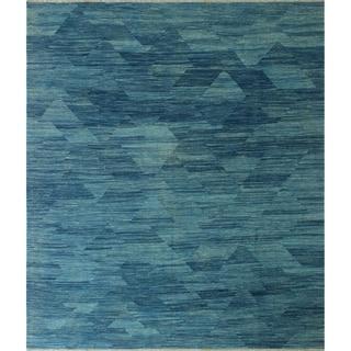"""Noori Rug Winchester Kilim Mudawar Blue Rug - 8'6"""" x 9'10"""""""