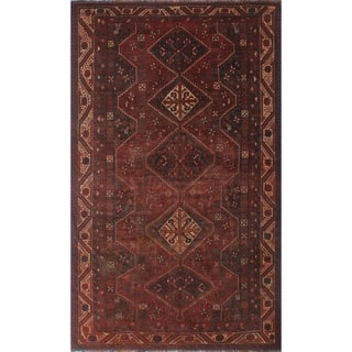 "Noori Rug Vintage Distressed Savanna Red/Blue Rug - 5'8"" x 9'4"""