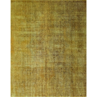 "Noori Rug Distressed Overdyed Lilianna Gold/Brown Rug - 9'10"" x 12'8"""