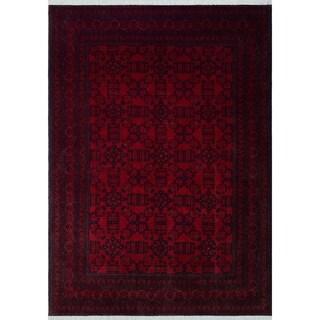 "Noori Rug Khal Mohammadi Desiree Red/Black Rug - 6'6"" x 9'9"""
