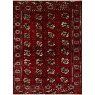 """Noori Rug Vintage Distressed Madisyn Red/Ivory Rug - 4'6"""" x 5'11"""""""