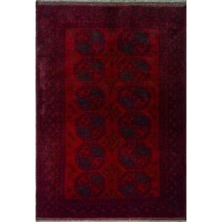 """Noori Rug Vintage Distressed Elisa Red/Black Rug - 4'6"""" x 6'1"""""""