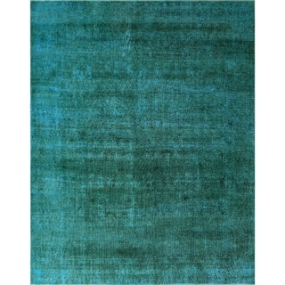 "Noori Rug Distressed Overdyed Chanel Green/Drk. Brown Rug - 9'11"" x 12'8"""