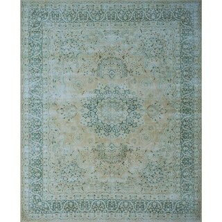 "Noori Rug Fine Vintage Distressed Tinley Beige/Blue Rug - 9'11"" x 12'8"""
