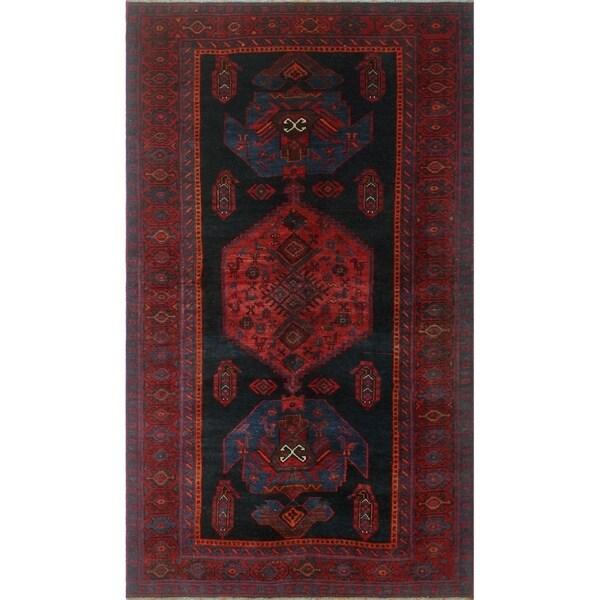 """Noori Rug Semi-Antique Distressed Baylee Red/Blue Rug - 4'3"""" x 7'9"""""""