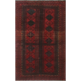 "Noori Rug Semi-Antique Distressed Kalani Red/Blue Rug - 3'7"" x 5'10"""