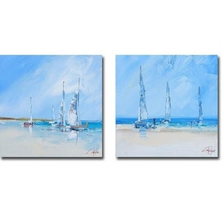 Link to Aspendale 1 & 2 by Craig T. Penny 2-piece Gallery Wrapped Canvas Giclee Art Set (Ready to Hang) - Multi-color Similar Items in Matching Sets