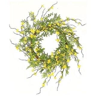 Wild forsythia and twig wreath