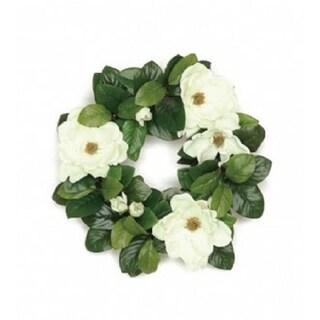 "20"" Southern charm magnolia and leaf wreath"