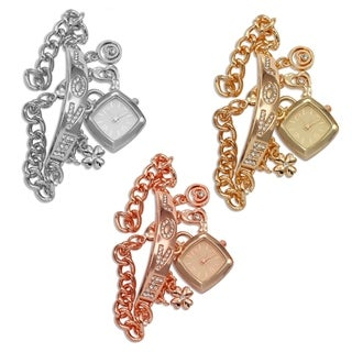 M Milano Expressions Lady Charm Bracelet Watch -4562