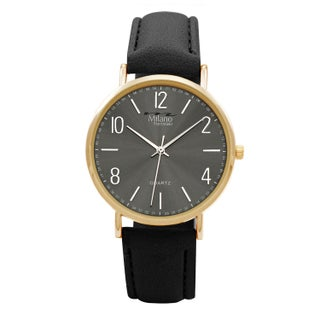M Milano Expressions Vegan Leather Strap Men Watch -4619