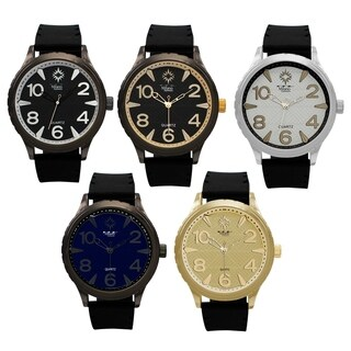 M Milano Expressions Men Rubber Strap Watch -4599