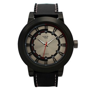 M Milano Expressions Vegan Leather Strap Men Watch -4636