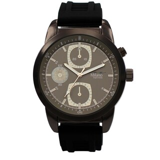 M Milano Expressions Rubber Strap Men Watch -4623
