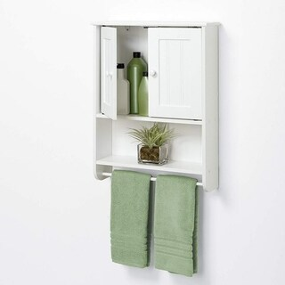 Deals on Home Elegant Bathroom Medicine Storage Mounted 2-Door Wall Cabinet
