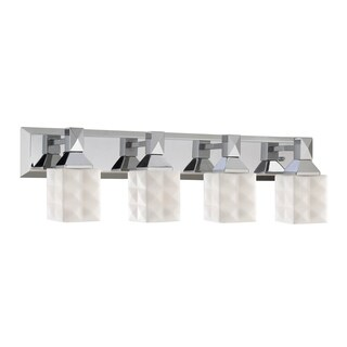Millennium Lighting 4-light Reversible Vanity Fixture with Etched White Diamond Glass