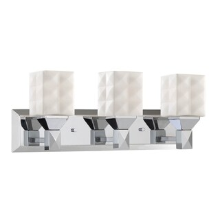 Millennium Lighting Steel 3-light Reversible Vanity with Etched White Diamond Glass Shades