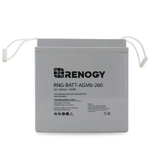 Renogy 6 Volt 260Ah Deep Cycle AGM Battery Golf Cart, Marine and RV Battery Maintenance Free