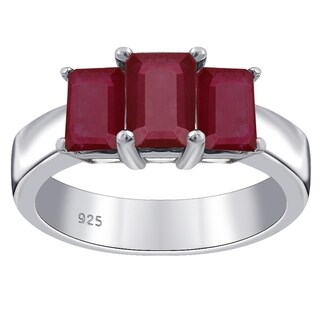 Bold Stylish Orchid Jewelry 2.65 Cts Ruby 925 Sterling Silver Ring