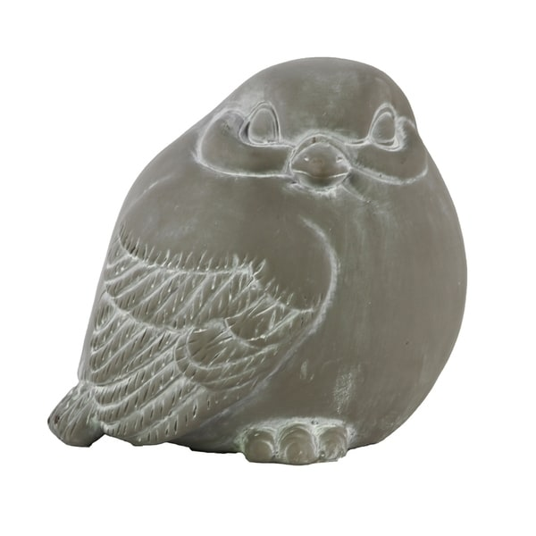 Urban Trends Cement Looking Right Bird Figurine in Washed Concrete Finish - Gray
