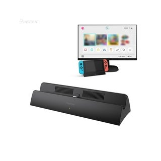 INSTEN Portable Dock Replacement for Nintendo Switch with TV Toggle Button, HDMI Output & USB 3.0/2.0 Ports - black