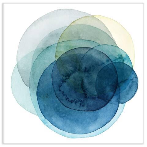 """Empire Art""""Evolving Planets I"""" Frameless Tempered Art Glass Wall Art"""