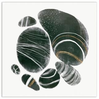 "Empire Art""Mineralize I"" Frameless Tempered Art Glass Wall Art"