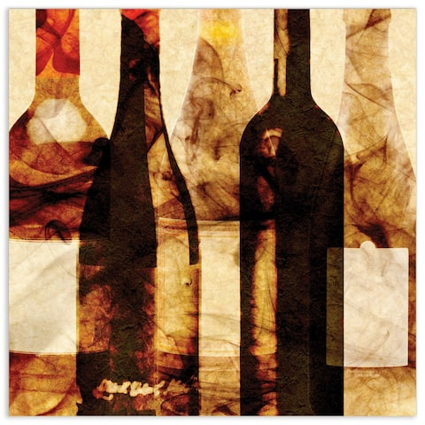 "Empire Art""Smokey Wine 3""Frameless Tempered Art Glass Wall Art"