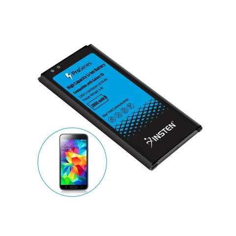INSTEN Pro Series 2800mAh Rechargeable Lithium-ion Battery Replacement for Samsung Galaxy S5 SM-G900