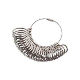 INSTEN 27-Piece Metal International Circle Models Finger Guage Set for Jewelry Making - Silver