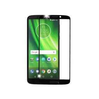INSTEN Black Full Coverage Tempered Glass Screen Protector for Motorola Moto G6 Forge/G6 Play