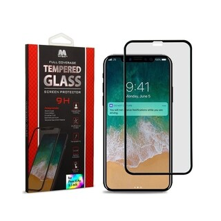 INSTEN Black Full Coverage Tempered Glass Screen Protector for Apple iPhone XS Max - CLEAR